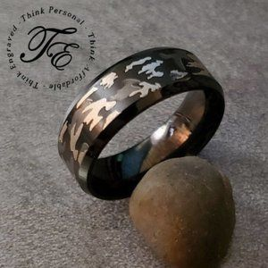 Men's Camo Promise ring Or Wedding Band